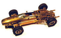Auto World Brass Ferrari Slot Car