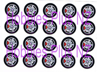 "Front Wheel Decal 1/2"" (12.7mm)   HP 4412-10"