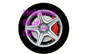 "Front Wheel Decal 1/2"" (12.7mm)   HP 4412"